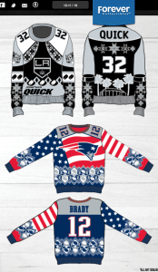 Ugly sports sweaters