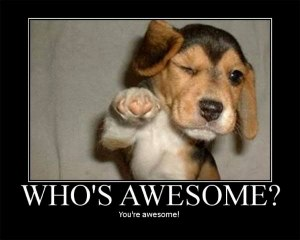 Dog says You're Awesome